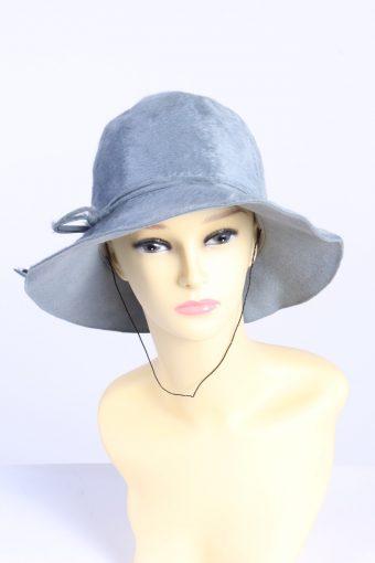 Vintage Fashion Womens Trilby Ribbon Hat Turquoise