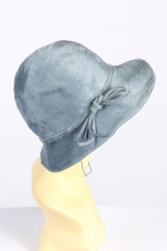 Vintage 1990s Fashion Womens Trilby Ribbon Hat Turquoise HAT1352-126912