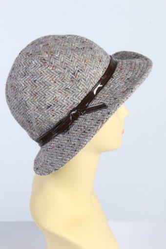 Vintage 1990s Fashion Womens Trilby Ribbon Hat Multi HAT1354-126920