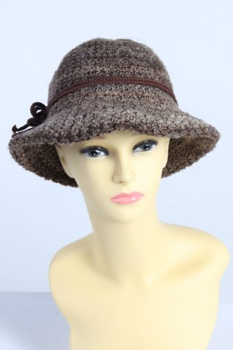 Vintage Fashion Womens Brim Knit Hat