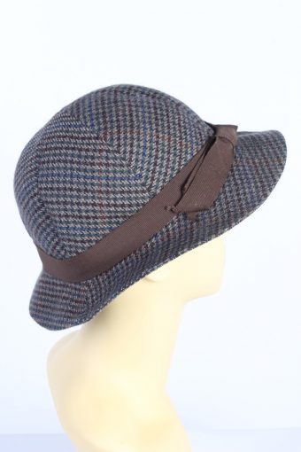 Vintage 1990s Fashion Womens Trilby Ribbon Lined Hat Multi HAT1382-127708