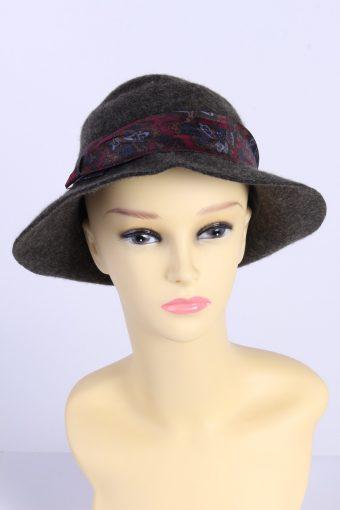 Vintage Fashion Womens Trilby Ribbon Hat