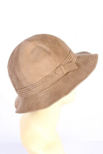 Vintage 1990s Fashion Womens Trilby Suede Lined Hat Brown HAT1386-127724