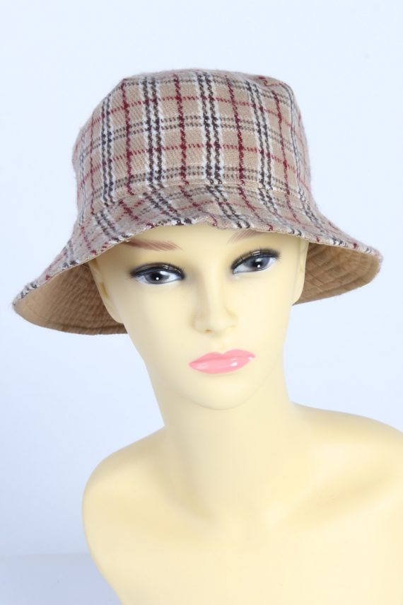 Vintage 1980s Fashion Womens Brimmed Soft Lined Winter Hat Multi HAT1390-0