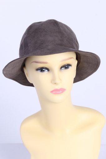 Vintage Holscher Hut + Mode Fashion Womens Brim Suede Hat