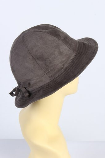 Vintage Holscher Hut + Mode 1980s Fashion Womens Brim Suede Hat Grey HAT1392-127748