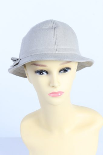 Vintage Fashion Womens Brim Lined Hat With Ribbon