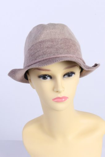 Vintage Milsa Fashion Womens Brimmed Hat With Cord Ribbon