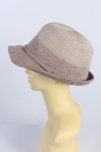 Vintage Milsa 1980s Fashion Womens Brimmed Hat With Cord Ribbon Multi HAT1431-127908