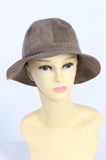 Vintage Alcantara Fashion Womens Trilby Lined Hat With Smart Ribbon