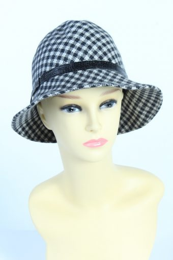 Vintage Fashion Womens Trilby Lined Hat With Leather Band Ribbon