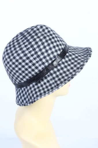 Vintage 1990s Fashion Womens Trilby Lined Hat With Leather Band Ribbon Multi HAT1443-128269