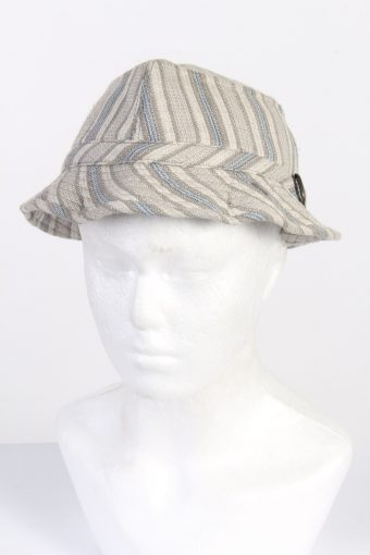 Vintage Fashion Unisex Brim Lined Hat With Buckle Detail