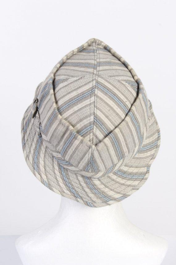 Vintage 1970s Fashion Unisex Brim Lined Hat With Buckle Detail Multi HAT1462-128346