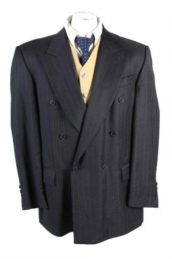 Men Blazer Jacket Atwardson Classic Lined Wool Black XL