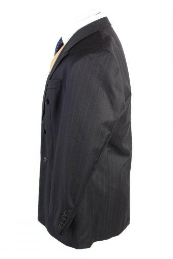 "Vintage Atwardson Classic Lined 100% Wool Blazer Jacket Chest 44"" Black HT2725-127415"
