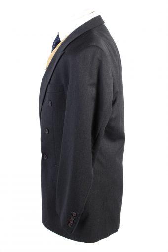 "Vintage Benvenuto Classic Lined 100% Wool Blazer Jacket Chest 46"" Black HT2726-127419"