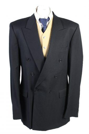 Men Blazer Jacket Weingarten Koln Classic Lined Wool Black XXL