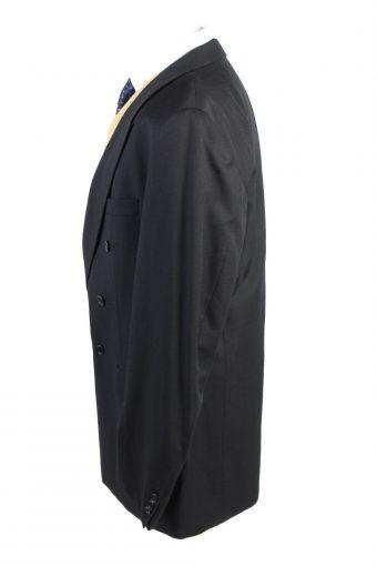 "Vintage Weingarten Koln Classic Lined 100% Wool Blazer Jacket Chest 46"" Black HT2727-127423"