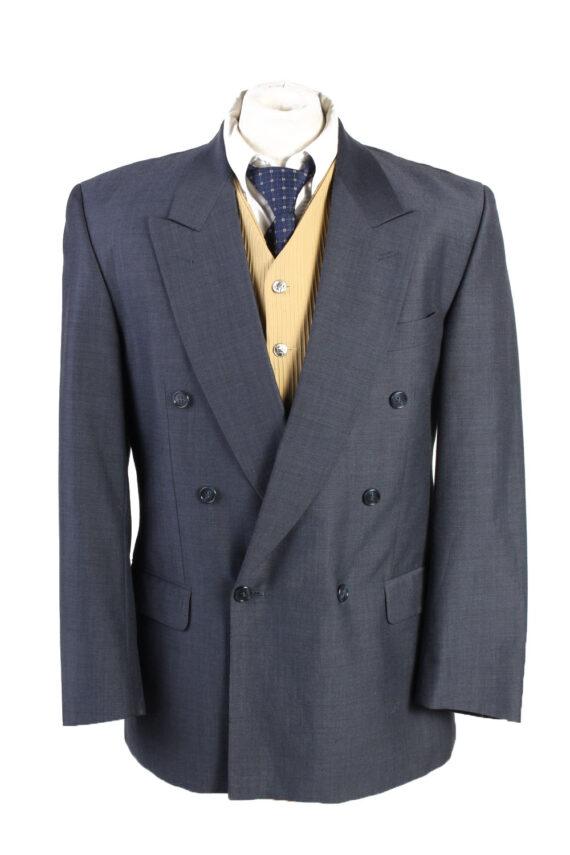 "Vintage Bozzalla&Lesna Classic Lined Wool Blended Blazer Jacket Chest 44"" Blue HT2728-0"
