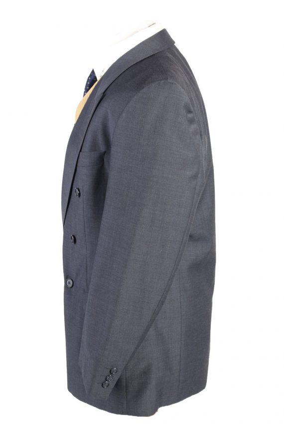 "Vintage Bozzalla&Lesna Classic Lined Wool Blended Blazer Jacket Chest 44"" Blue HT2728-127427"
