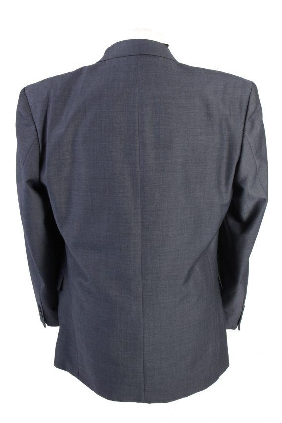 "Vintage Bozzalla&Lesna Classic Lined Wool Blended Blazer Jacket Chest 44"" Blue HT2728-127428"