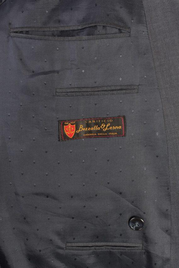 "Vintage Bozzalla&Lesna Classic Lined Wool Blended Blazer Jacket Chest 44"" Blue HT2728-127429"