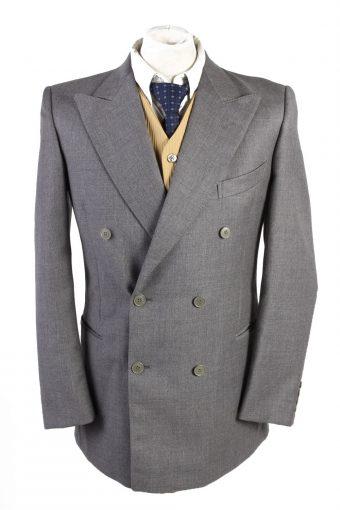 Blazer Jacket Abbi Piu Classic Lined Wool Grey L