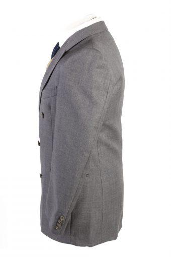 "Vintage Abbi Piu Classic Lined 100% Wool Blazer Jacket Chest 40"" Grey HT2730-127435"