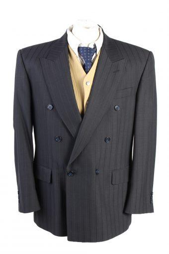 Men Blazer Jacket Classic Lined Wool Blended Black XL