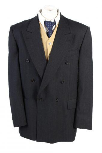 Men Blazer Jacket Atelier Torino Classic Lined Wool Blended Black XL