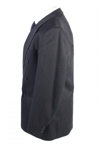 """Vintage Schulze Classic Lined Wool Blended Blazer Jacket Chest 44"""" Navy HT2742-127479"""