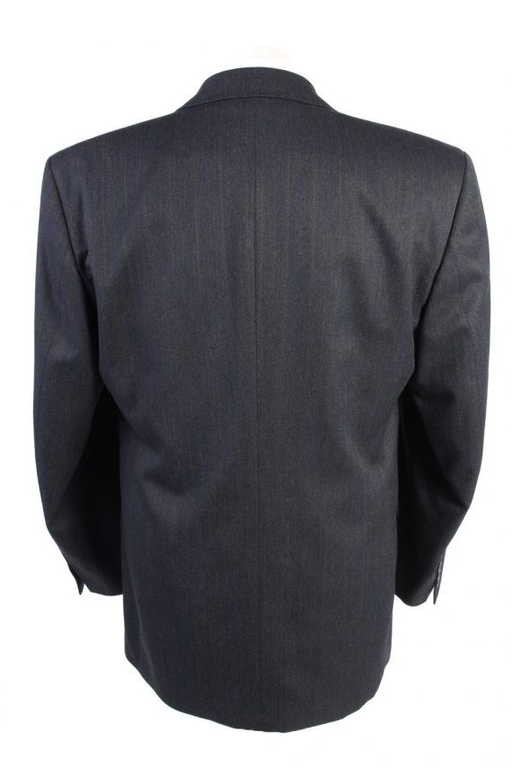 """Vintage Schulze Classic Lined Wool Blended Blazer Jacket Chest 44"""" Navy HT2742-127480"""