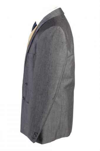 "Vintage Hendriksen Classic Lined Wool Blended Blazer Jacket Chest 44"" Grey HT2743-127483"