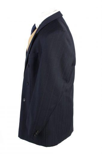 "Vintage Hail Heidenheim Classic Lined Wool Blended Blazer Jacket Chest 45"" Navy HT2744-127487"