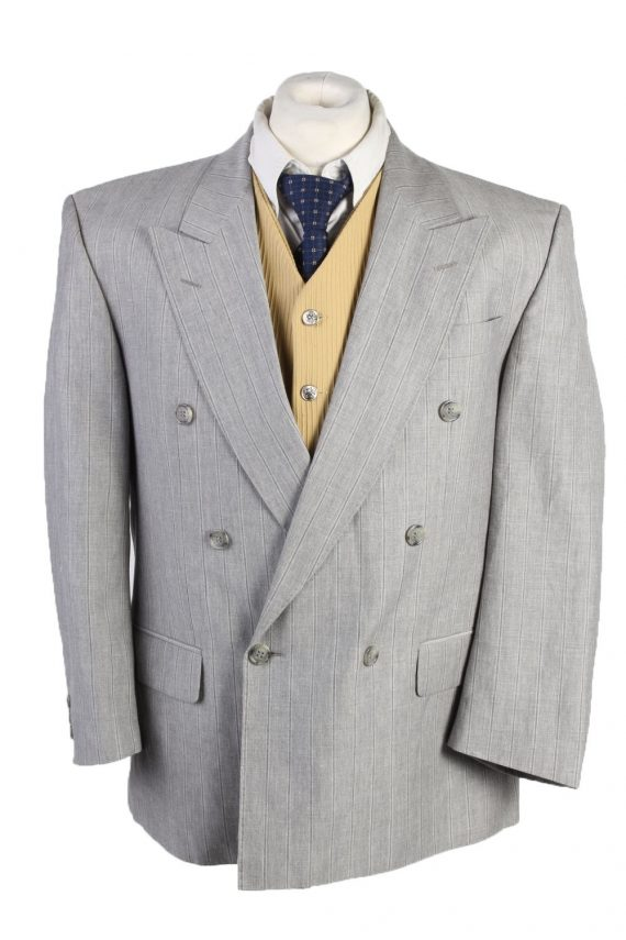 """Vintage Westburry Classic Lined Wool Blended Blazer Jacket Chest 44"""" Grey HT2745-0"""