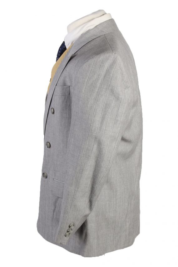 """Vintage Westburry Classic Lined Wool Blended Blazer Jacket Chest 44"""" Grey HT2745-127491"""