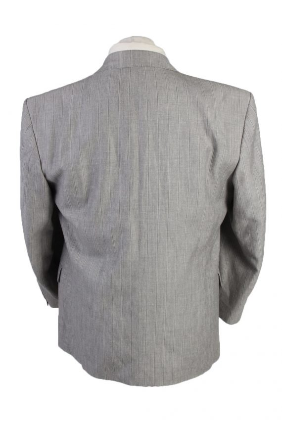 """Vintage Westburry Classic Lined Wool Blended Blazer Jacket Chest 44"""" Grey HT2745-127492"""
