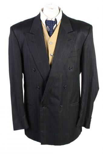Blazer Jacket Babylon Lined Plaid Black XL