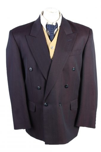 Blazer Jacket Bvtom Classic Lined Wool Blended Plum L