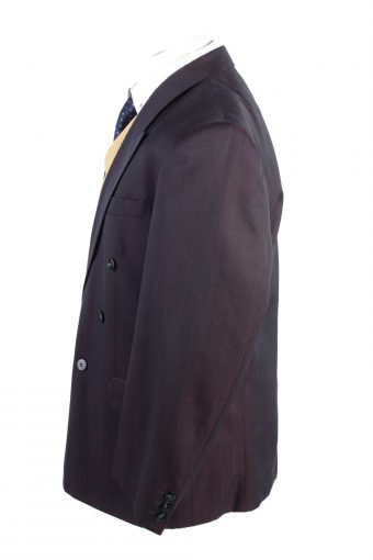 """Vintage Bytom Classic Lined Wool Blended Blazer Jacket Chest 45"""" Plum HT2748-127503"""