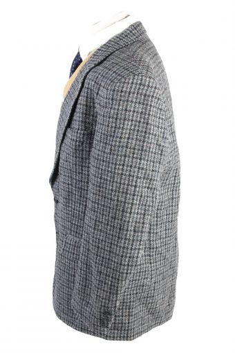 "Vintage Harris Tweed Classic Blazer Jacket Chest 46"" Grey HT2761-128061"