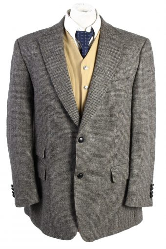 Harris Tweed Blazer Jacket Brown XL