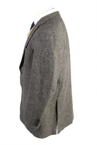 "Vintage Harris Tweed Classic Blazer Jacket Chest 47"" Brown HT2774-128113"