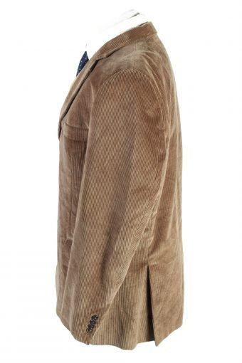 Vintage Velluto Duca Visconti Di Modrone Classic Corduroy Lined Blazer Jacket Size 54 Brown HT2783-128157