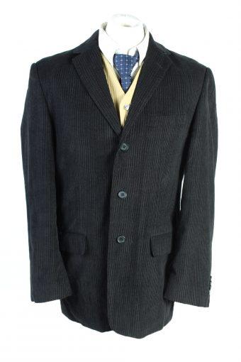 Men Blazer Jacket Angelo Litrico Classic Corduroy Lined Black M/L