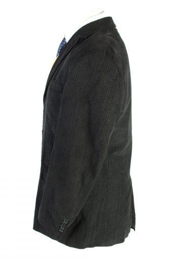 Vintage Angelo Litrico Classic Corduroy Lined Blazer Jacket Size 50 Black HT2785-128167
