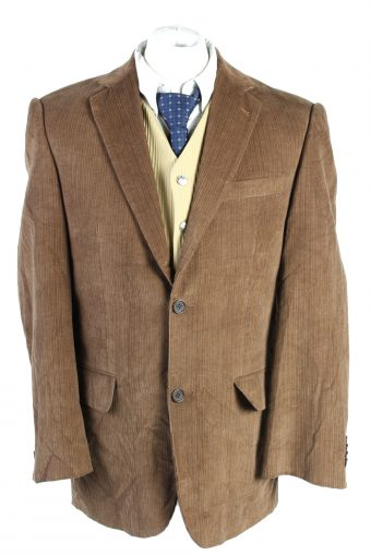 Men Blazer Jacket Angelo Litrico Classic Corduroy Lined Brown L