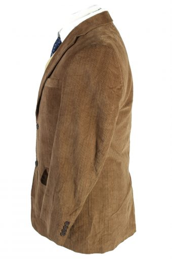 Vintage Angelo Litrico Classic Corduroy Lined Blazer Jacket Size 46 Brown HT2787-128177