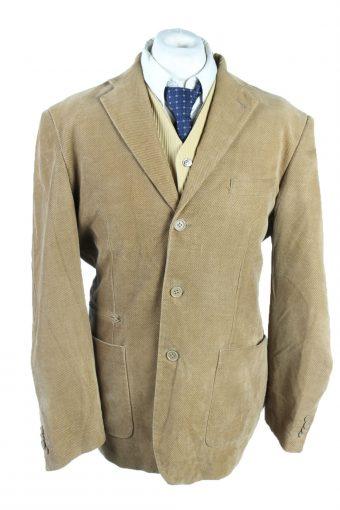 Men Velvet Blazer Jacket Niama Man Classic Lined Brown XL